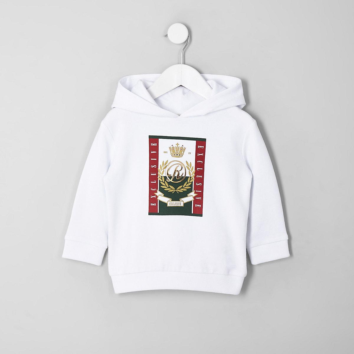 Mini boys white RI hoodie