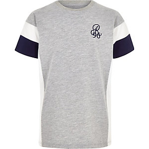 Boys grey R96 blocked T-shirt