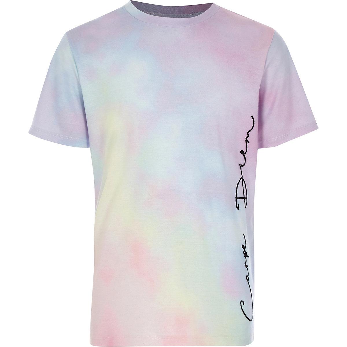 Boys pink 'Carpe diem' T-shirt