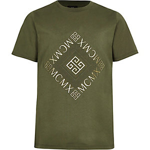 """Khaki T-Shirt """"Mcmx"""""""