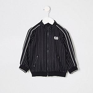 Mini boys navy pinstripe Harrington jacket