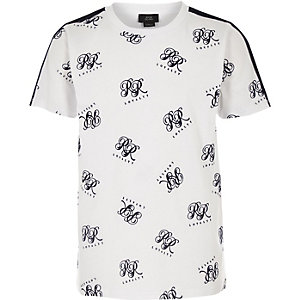 Boys white RI flock T-shirt
