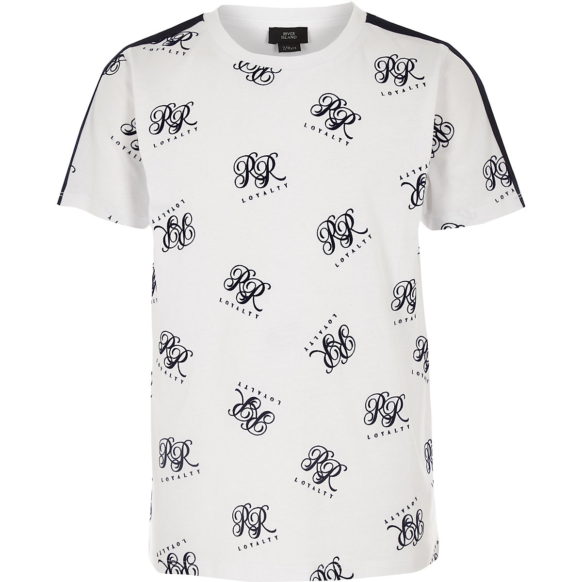 Boys white RI flock T-shirt