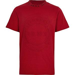 Rood T-shirt met 'Brnx'-print en korte mouwen voor jongens