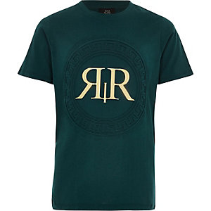 Boys green 'RI' foil T-shirt