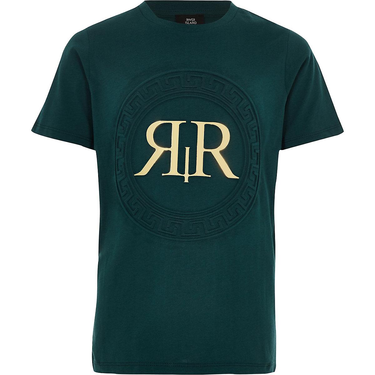 Boys green 'RI' foil T-shirt