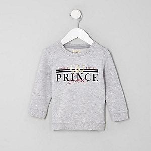 Mini - Grijs sweatshirt met 'little prince'-print voor jongens