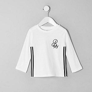 T-shirt à bande R96 blanc mini garçon