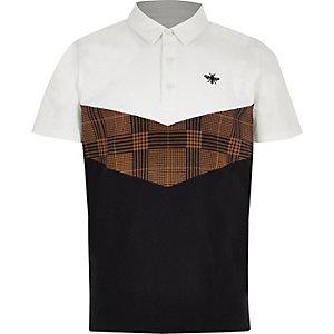 Boys white chevron polo shirt