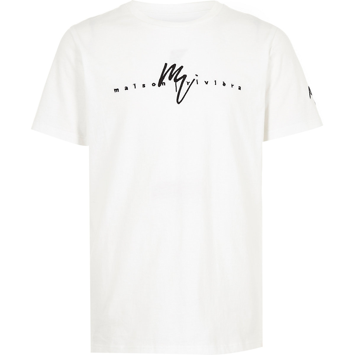 Boys white 'Maison Riviera' T-shirt