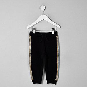 Pantalon de jogging à carreaux marron pour mini garçon