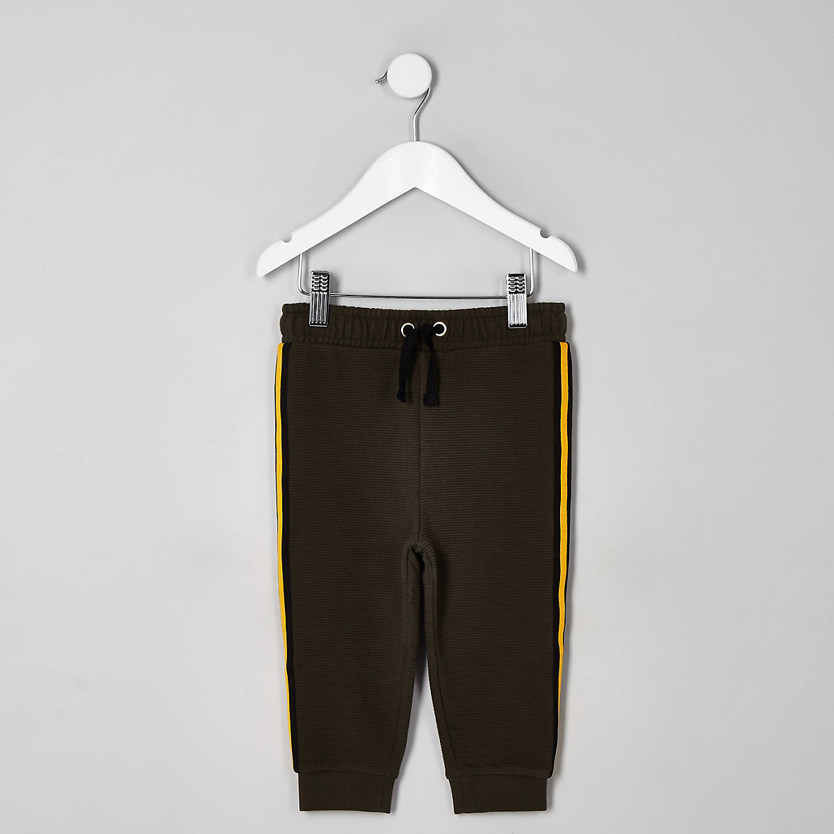 Mini boys khaki tape joggers
