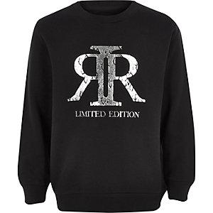 Zwart sweatshirt met RI-folielog voor jongens