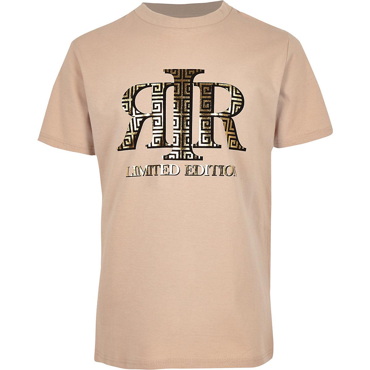 Boys stone RI foil print T-shirt