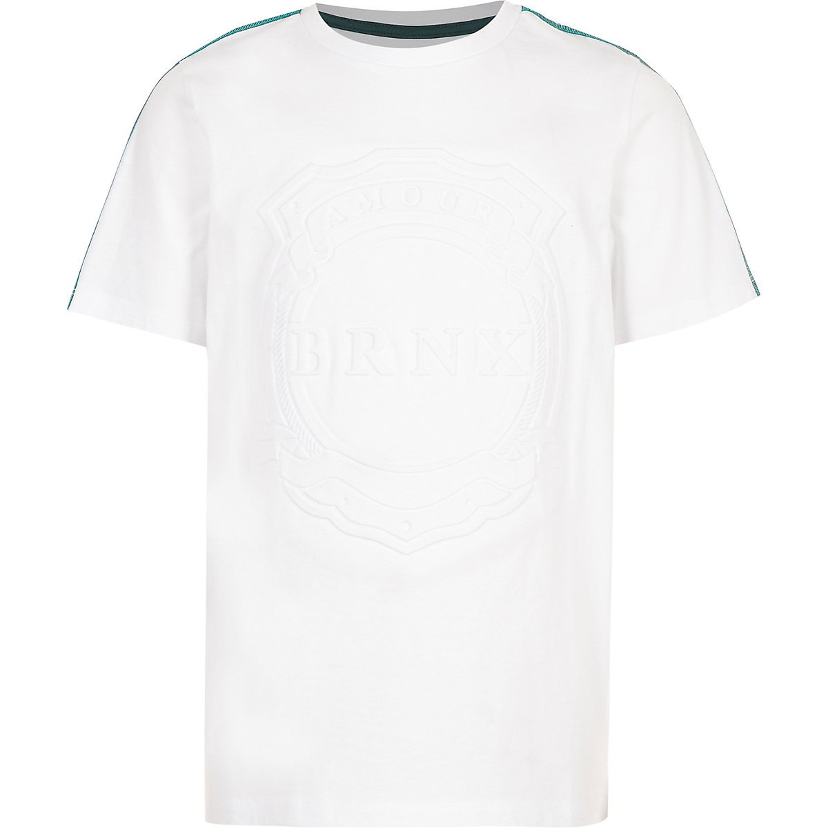 Boys white 'Brnx' tape T-shirt