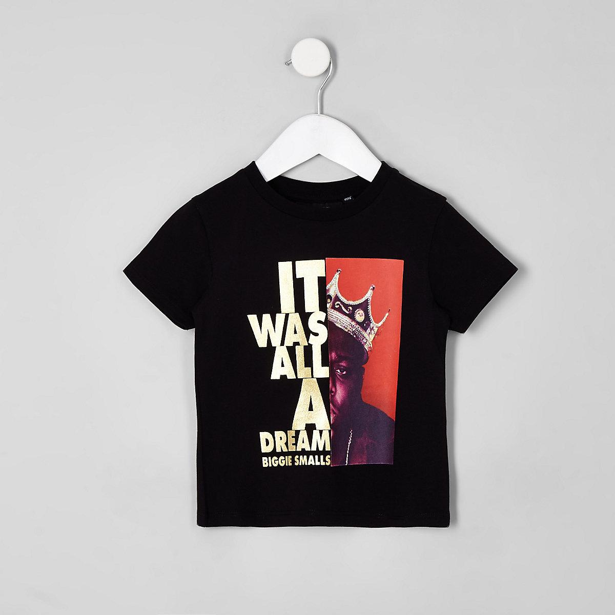 Mini boys black Biggie Smalls T-shirt