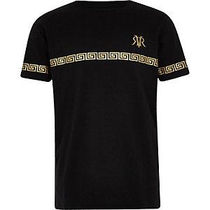 Zwart T-shirt met RI-logobies voor jongens