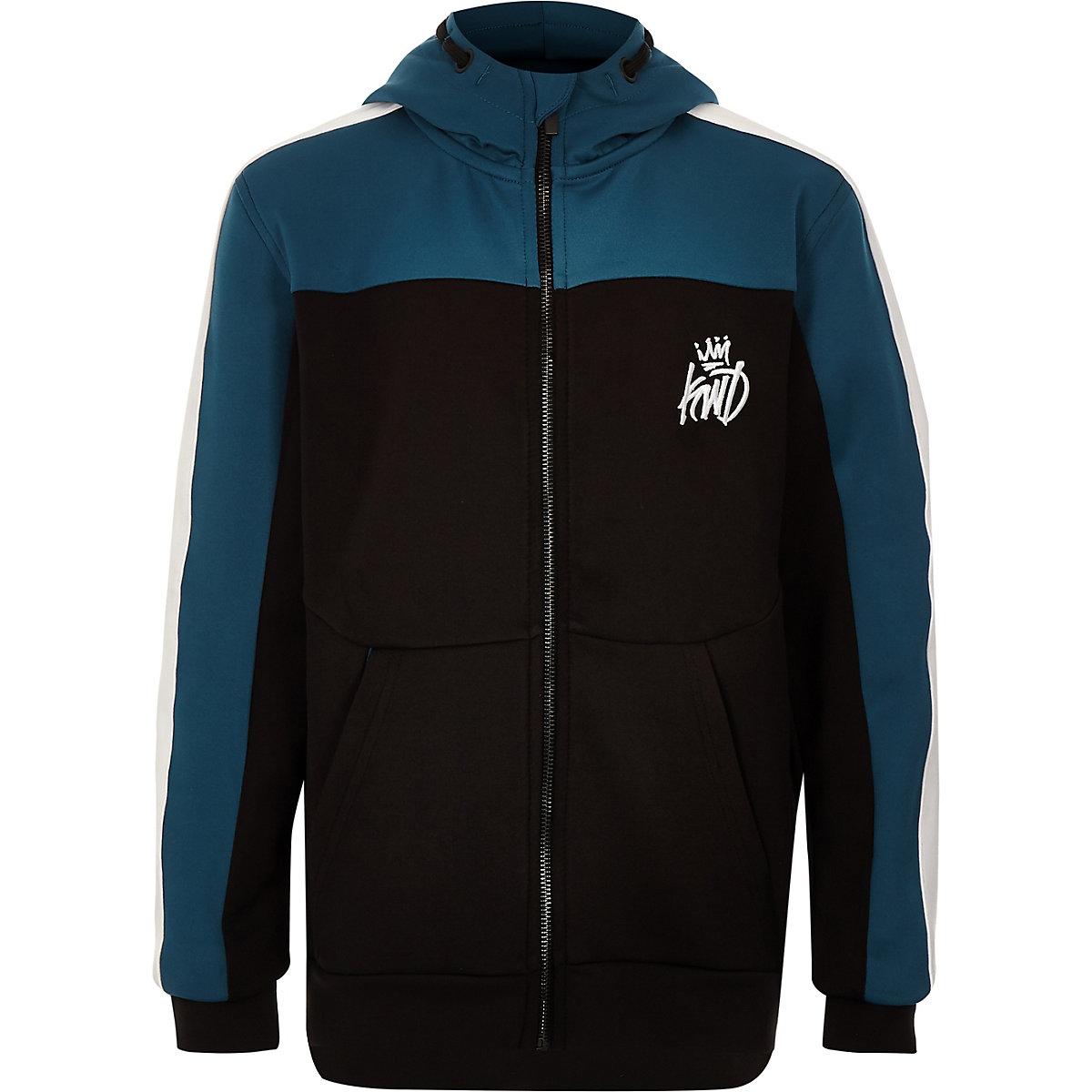 Boys black Kings Will Dream zip up hoodie