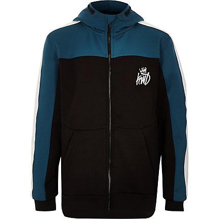 RIVER ISLAND | Boys Black Kings Will Dream zip up hoodie | Goxip