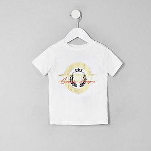 Mini boys white 'Little prince' T-shirt