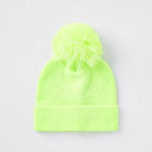 Bonnet vert citron fluo pour garçon