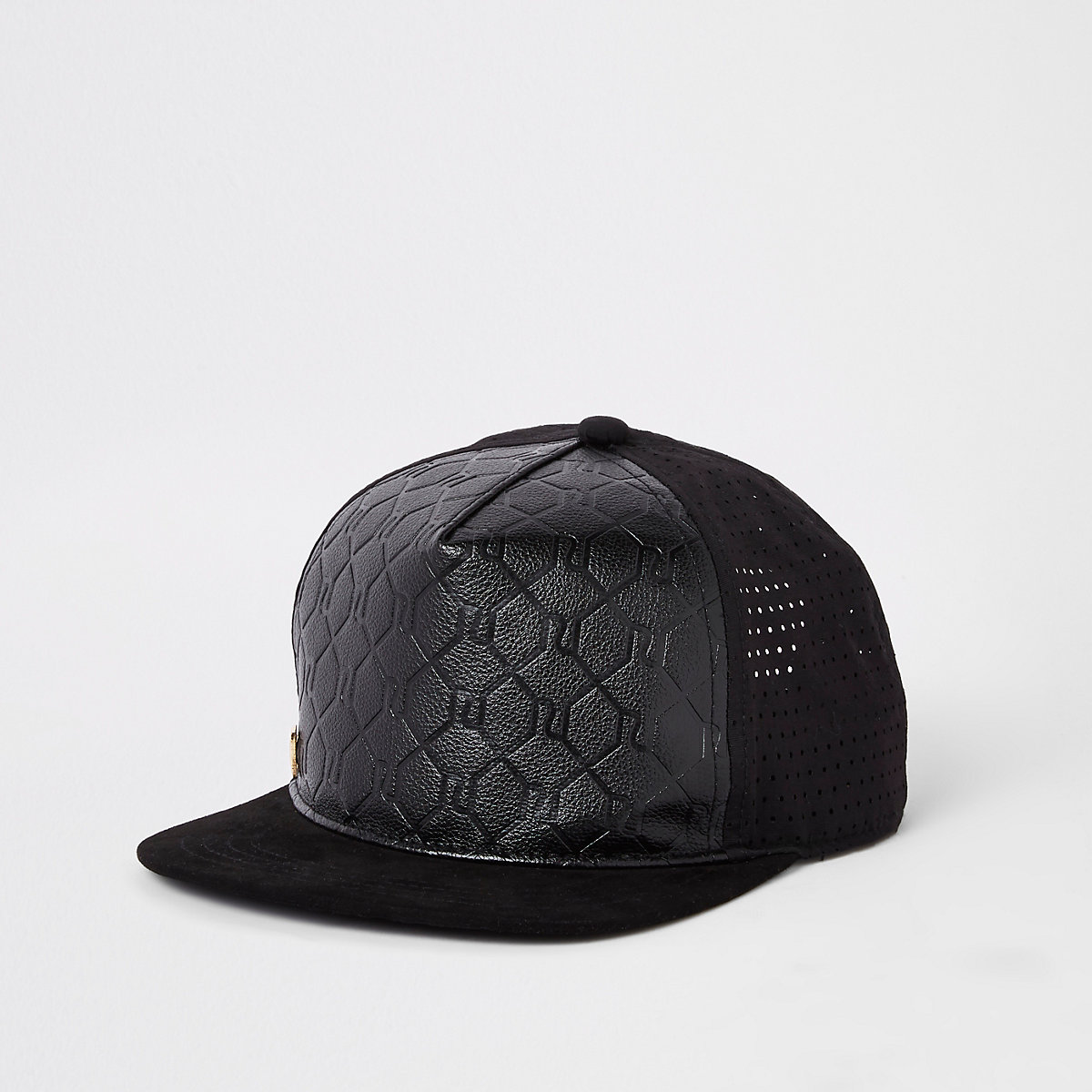 Boys black RI embossed cap