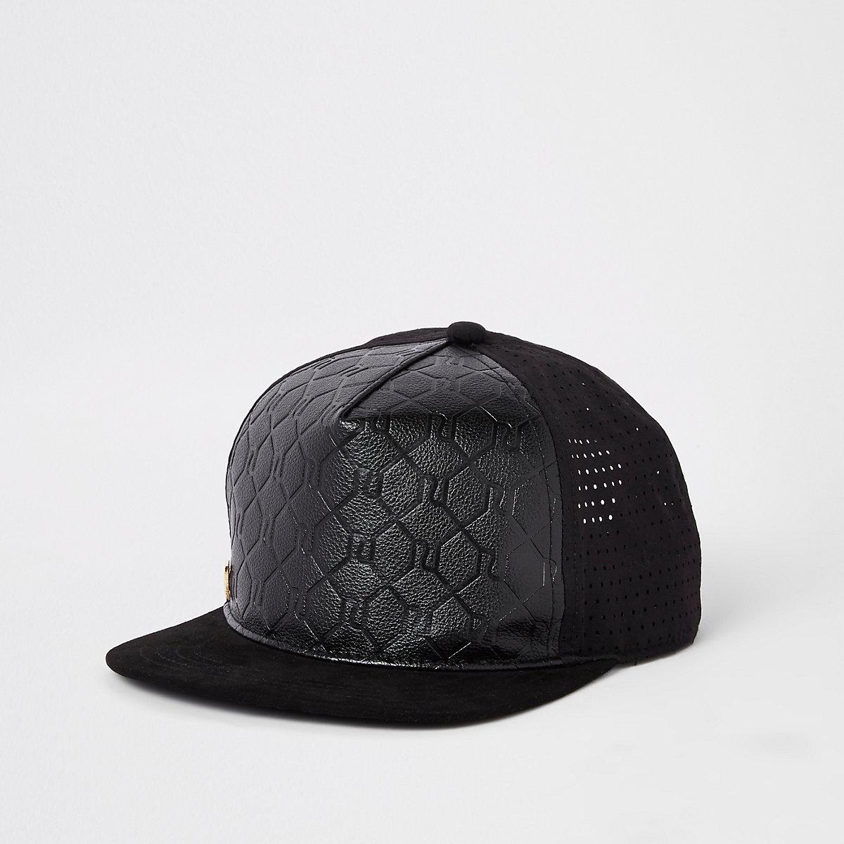 Boys black RI embossed cap