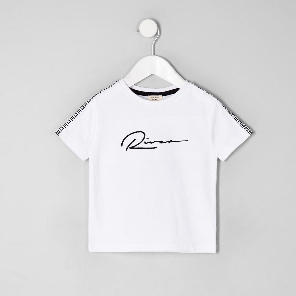 Mini boys white 'River' T-shirt