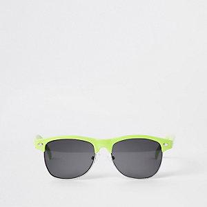 Boys neon green flat top sunglasses