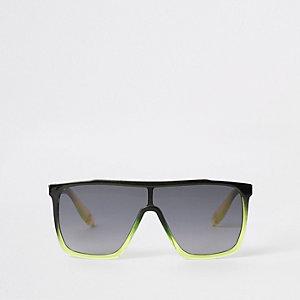 Schwarze Visor-Sonnenbrille