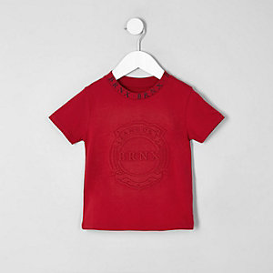 Mini - Rood T-shirt met 'Brnx'-print voor jongens