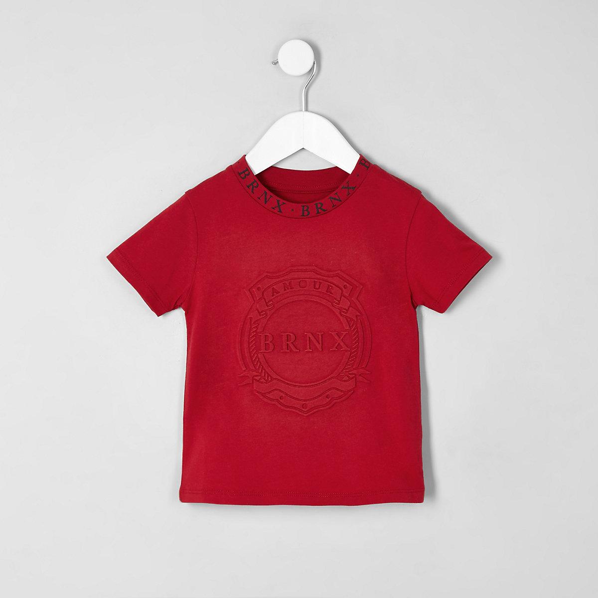 Mini boys red 'Brnx' T-shirt