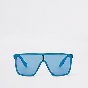 Blaue Visor-Sonnenbrille