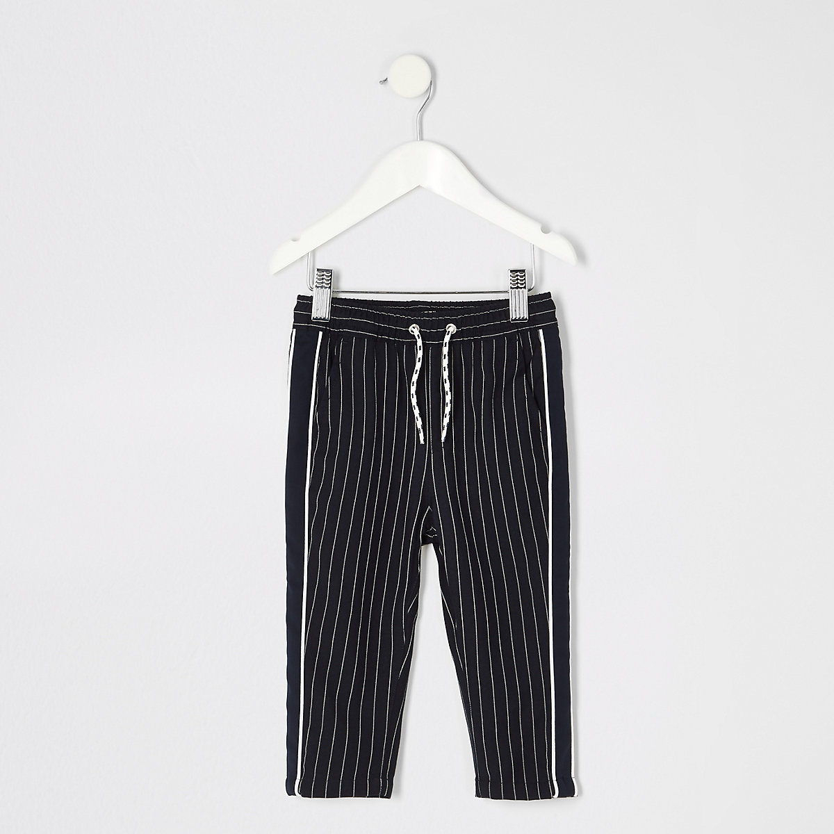 Mini boys navy pinstripe pants