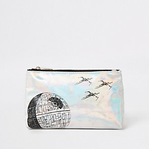 Kids silver Star Wars toiletry bag