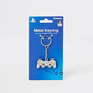 Boys silver PlayStation controller keyring