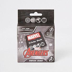 Jeu questions sur Marvel Avengers noir pour garçon