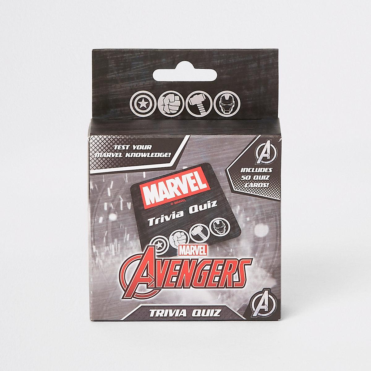 Boys black Marvel Avengers trivia quiz pack