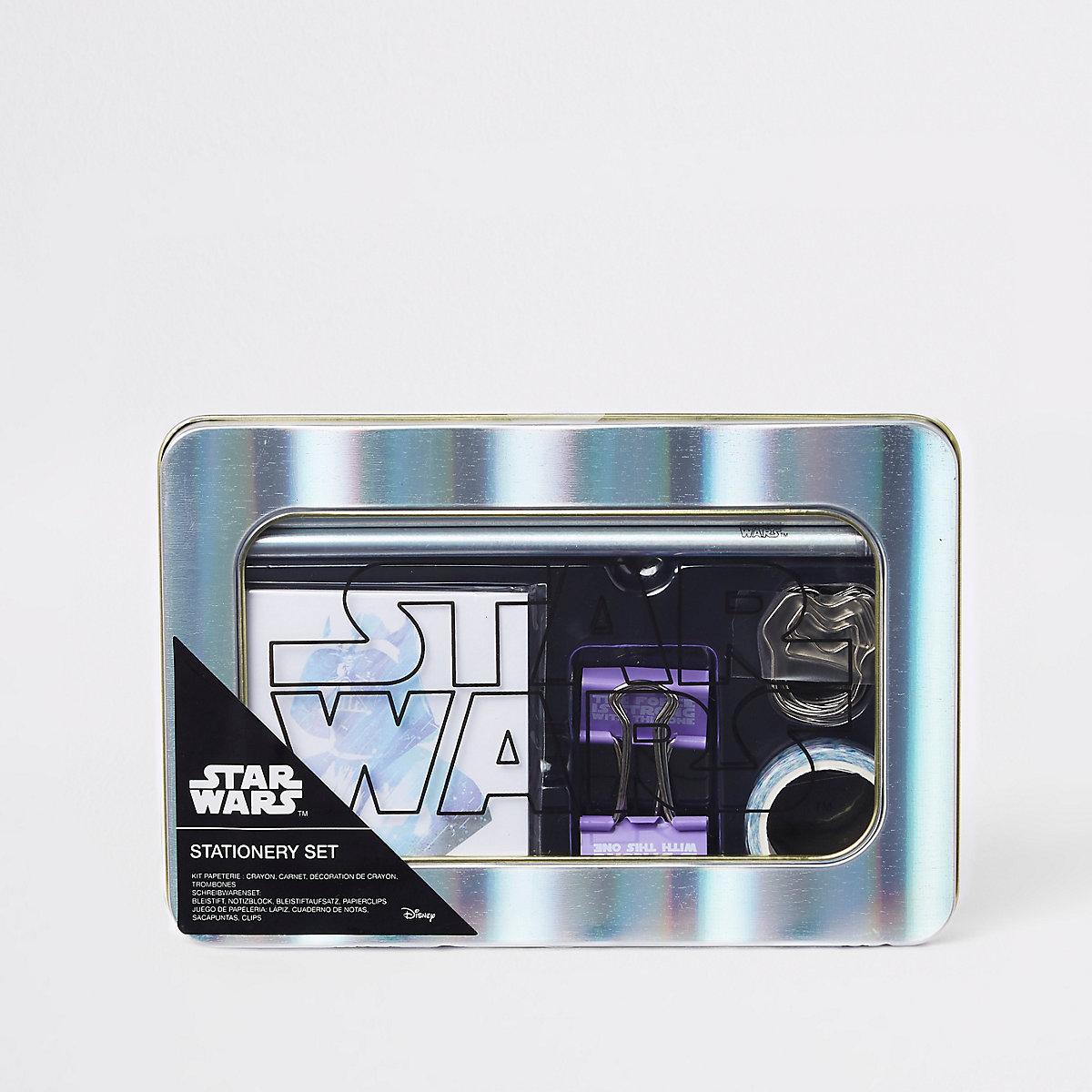 Kids silver Star Wars stationary set