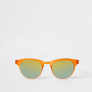 Mini boys orange retro sunglasses