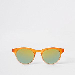 Mini - Oranje retro zonnebril voor jongens