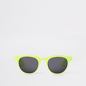 Mini boys neon green flat top sunglasses