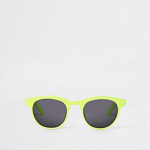 Mini - Neongroene zonnebril met platte bovenkant voor jongens