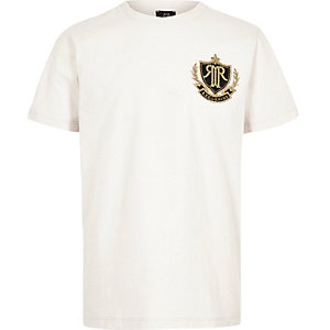 Boys stone RI badge T-shirt