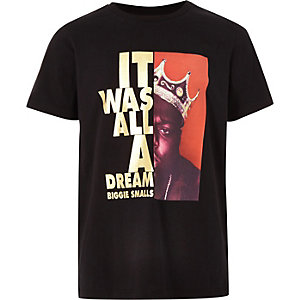T-shirt « It was all a dream » noir pour garçon