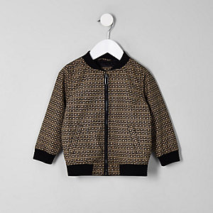 Mini boys brown RI bomber jacket