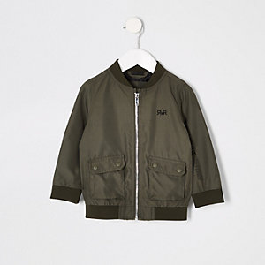 Mini boys khaki RI utility bomber jacket