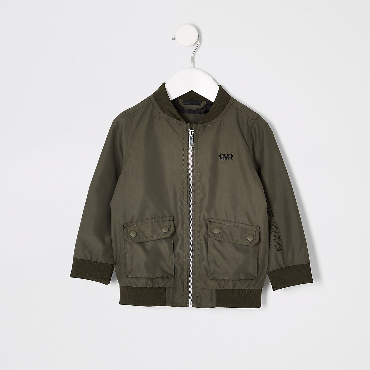 Mini boys khaki RI utility bomber jacket