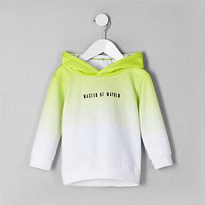 Limoengroene 'master of mayhem' hoodie voor jongens