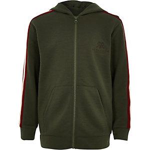 8b0d33c981 Boys khaki RI zip hoodie